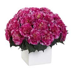 Carnation Arrangement With Vase, Dark Pink