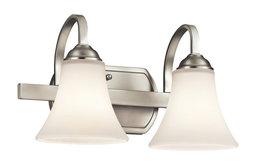 Bath 2-Light, Brushed Nickel, Standard