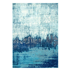 "nuLOOM Abstract Rainfall Area Rug, Blue, 6'7""x9'"