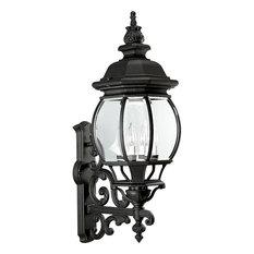 Progress Lighting Onion Lantern 4 Light Outdoor Wall Lantern Textured Black And Clear