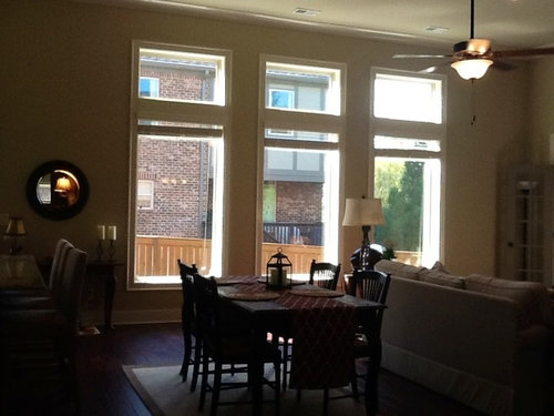 Would Like To Soften Wall With Curtains Ceilings Are 12 Feet High Transoms 24 Windows Below 80 Ceiling Is