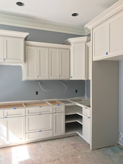 agreeable gray bathroom. Agreeable Gray is in the bathroom  and Worldly on cabinets this pantry seems like a much cooler color than at vs Accessible Beige