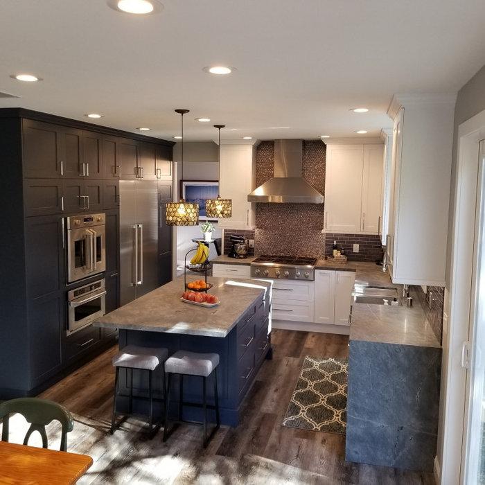 Bold Blue Kitchen