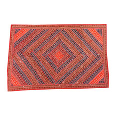 Mogulinterior - Indian Decorative Red Patchwork Tapestry Wall Hanging - Tapestries