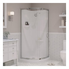 Davita Rounded Corner Shower Enclosure, 34""