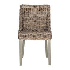 Safavieh   Safavieh Caprice Wicker Dining Chairs, Set Of 2   Dining Chairs