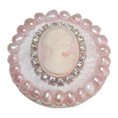 """Cameo and Lace Drawer Knob, 1.75"""""""