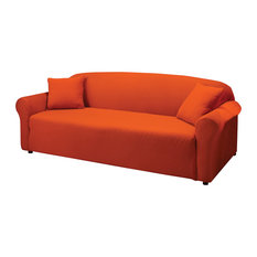 Madison Industries   Jersey Stretch Slipcover, Tangerine, Loveseat    Slipcovers And Chair Covers
