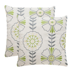 "Safavieh Flower Power Pillow, Set of 2, 20""x20"""