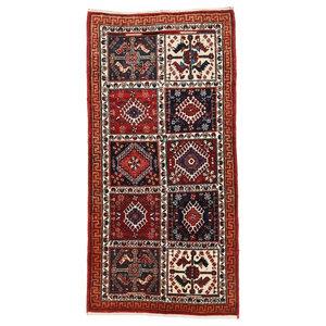 Gabbeh Loribaft Persian Rug, Runners, Hand-Knotted Modern, 151x75 cm