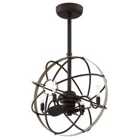 Atlas 6-Light Ceiling Fan, Aged Bronze Finish