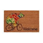 """Bear on Bike """"Welcome"""" Doormat"""