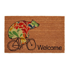 "Bear on Bike ""Welcome"" Doormat"