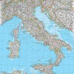 Magic Murals - Map of Italy Wallpaper Wall Mural, Self-Adhesive - Map of Italy Wall Mural