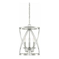 Westinghouse Isadora 3-Light Indoor Chandelier, Brushed Nickel