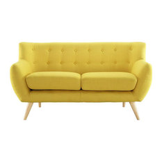 Wiley Upholstered Fabric Love Seat/Sunny