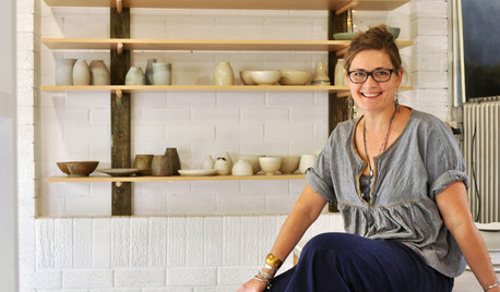 Creatives at Home: Lisa Russell in Her Potter's Studio