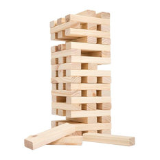 Nontraditional Giant Wooden Blocks Tower Stacking Game, Yard Game by Hey