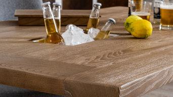 Tavolo in legno massello di rovere