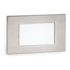 LED Low Voltage Diffused Step and Wall-Light Amber, Stainless Steel