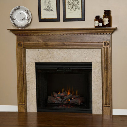 Glacier Wood Fireplace Mantel - Indoor Fireplaces