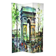 6' Tall Double Sided Paris Room Divider