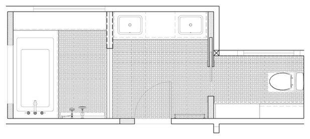 Transitional Floor Plan by KraftMaster Renovations