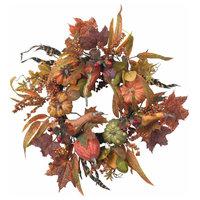 "24"" Pumpkin and Berry Wreath"