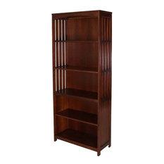 Liberty Furniture Hampton Bay 5 Shelf Open Bookcase in Cherry