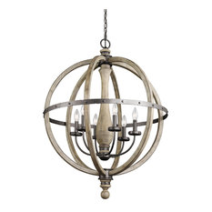 Evan Six Light Large Chandelier Distressed Antique Gray