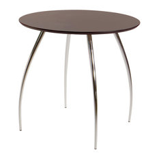 Eurostyle Bistro 30 Round Dining Table in Wenge and Chrome