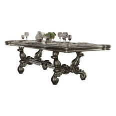 Acme Versailles Dining Table Antique Platinum