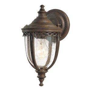 Small Outdoor Wall Lantern, British Bronze