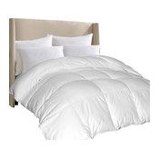 1000 TC Egyptian Cotton Cover Down Alternative Comforter White King