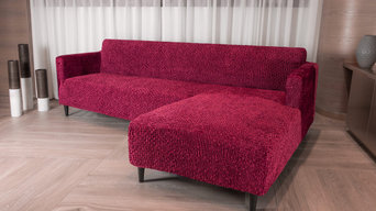 L-SHAPED SOFA SLIPCOVER (RIGHT CHASE), VELVET COLLECTION