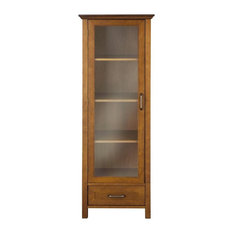 Elegant Home Fashions Avery Linen Cabinet With 1 Door And Bottom Drawer Wood