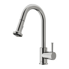 VIGO Pull-Out Spray Kitchen Faucet, Stainless Steel, Without Extras