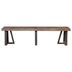 Industrial Dining Benches by Alpine Furniture, Inc