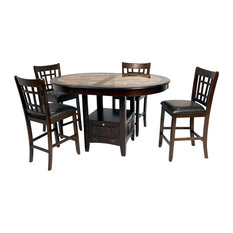 Most Popular Faux Stone Dining Room Tables For Houzz - Stone top counter height dining table