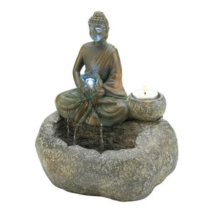 Small Water Fountain Modern Hand Of Buddha Table Top Fountains Indoor Decor