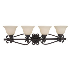 Manor 4-Light Bath Vanity Sconce, Oil Rubbed Bronze