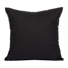"""Solid Black Accent, Throw Pillow Cover, 16""""x16"""""""
