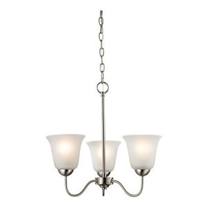 Thomas Conway 3-Light LED Chandelier, Brushed Nickel