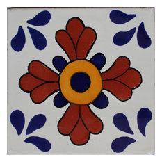 2x2 36 pcs Blue Seville Talavera Mexican Tile