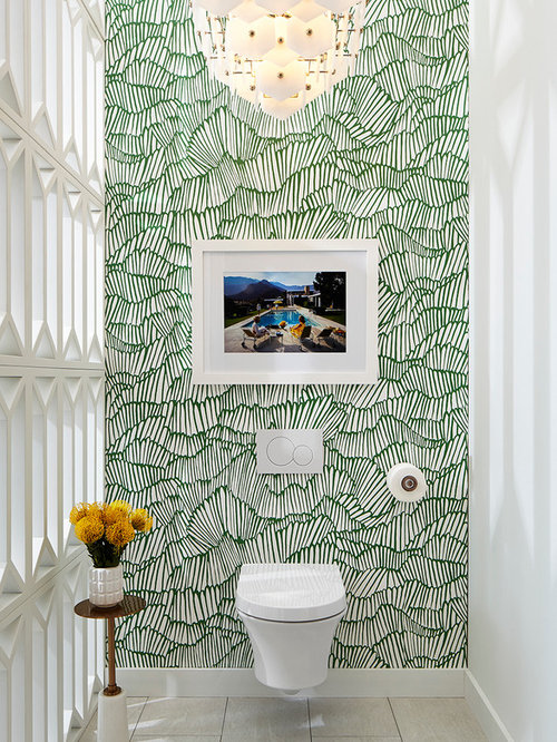 Wallpaper for the Powder Room - The Inspired Room