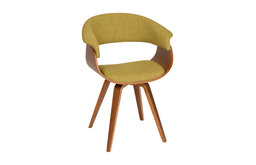 Summer Modern Chair and Walnut Wood, Green