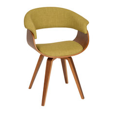 Armen Living   Summer Modern Chair, Green Fabric And Walnut Wood    Armchairs And Accent