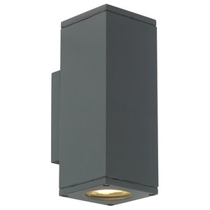 Up and Down Outdoor Wall Light, Graphite