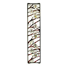 """9""""Wx42""""H Magnolia Stained Glass Window"""