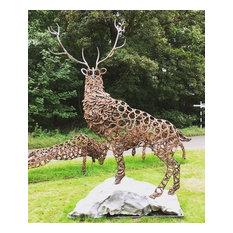 Stag Sculptures By Charles Elliott